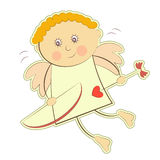 Valentines Cupid Isolated Royalty Free Stock Image