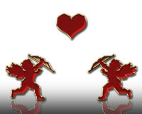 Valentines cupids Stock Photo