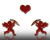 Valentines cupids stock photo