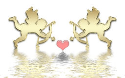 Valentines cupids Royalty Free Stock Image