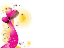 valentines d'ornement de coeurs Photos libres de droits