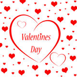 Valentines day. Background with hearts isolated on white Stock Photos