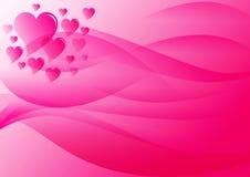 Valentines day. Pink background for valentine day stock illustration