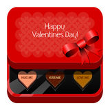 Valentines day. A valentines day with chocolate box with little chocolate hearts Stock Photography