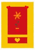 Valentines day. Card royalty free illustration