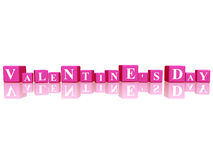 Valentines day in 3d cubes Stock Photos