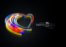 Valentines day 3d heart background. Abstract valentines day colorful 3d heart design element background royalty free illustration