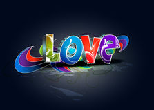 Valentines day 3d love design Stock Photography