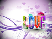 Valentines day 3d love design background Royalty Free Stock Images