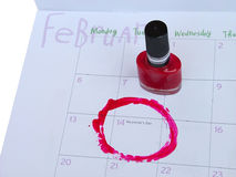 Valentines day. Calendar with valentines date royalty free stock images
