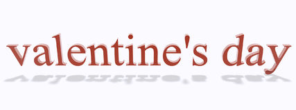 Valentines Day. Text objects i created stock illustration