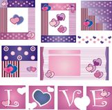 Valentines day. Several elements of design for Valentines Day Stock Images