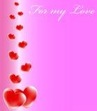 Valentines day. Illustration composition design for Valentine or wedding invitation, background, border or frame Royalty Free Stock Image