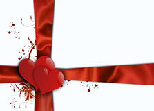 Valentines Day. Valentines background with two hearts...Please visit my portfolio for other vintage valentine backgrounds Royalty Free Stock Photos