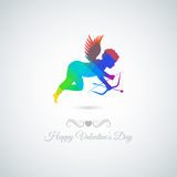 Valentines day abstract angel vector background Stock Image
