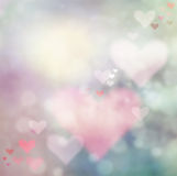 Valentines day abstract  background. Valentines day abstract nature background with bokeh lights and hearts Stock Photos