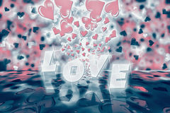 Valentines day abstract background. With bokeh lights and stars Royalty Free Stock Photos