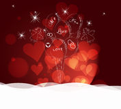 Valentines day abstract background Royalty Free Stock Photography