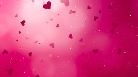 Valentines Day Abstract Background. And love concept. Pink heart shape, glittering light elements with bokeh decorations design for romantic background Stock Images