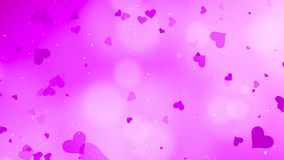 Valentines Day Abstract Background. And love concept. Pink heart shape, glittering light elements with bokeh decorations design for romantic background Stock Photo
