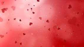 Valentines Day Abstract Background. And love concept. Red heart shape, glittering light elements with bokeh decorations design for romantic background Stock Image