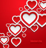 Valentines day abstract background. Vector illustration Royalty Free Stock Image