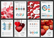 Valentines day abstract backgrounds Royalty Free Stock Photos