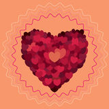 Valentines day. Abstract hearts. Love Stock Photo