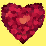 Valentines day. Abstract hearts. Love Royalty Free Stock Images