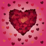 Valentines day. Abstract  hearts. Love Stock Photography