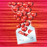 Valentines Day at an abstract horizontal background Stock Photography
