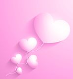 Valentines day. Abstract paper 3d hearts card Stock Image