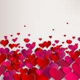 Valentines day. Abstract paper hearts. Love Royalty Free Stock Images