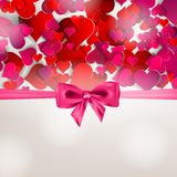 Valentines day. Abstract paper hearts. Love Stock Images
