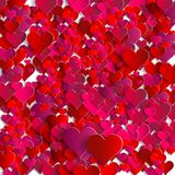 Valentines day. Abstract paper hearts. Love. This is file of EPS10 format Stock Photo