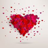 Valentines day. Abstract paper hearts. Love Stock Image