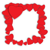 Valentines day. Abstract paper hearts. Love - Illustration Royalty Free Stock Photography