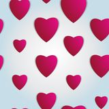 Valentines day. Abstract paper hearts. Love. Valentine background with hearts.  stock illustration