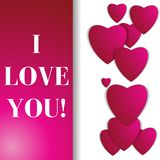 Valentines day. Abstract paper hearts. Love. Valentine background with hearts Royalty Free Stock Photos