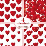 Valentines day. Abstract paper hearts. Love. Valentine background with hearts Stock Image
