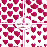 Valentines day. Abstract paper hearts. Love. Valentine background with hearts Stock Photos