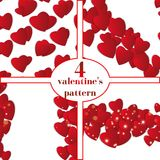Valentines day. Abstract paper hearts. Love. Valentine background with hearts Stock Photo