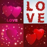 Valentines day. Abstract paper hearts. Love. Valentine background with hearts Stock Photography