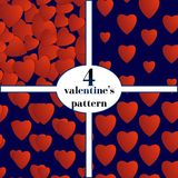 Valentines day. Abstract paper hearts. Love. Valentine background with hearts Royalty Free Stock Photography