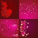 Valentines day. Abstract paper hearts. Love. Valentine background with hearts.  vector illustration