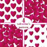 Valentines day. Abstract paper hearts. Love. Valentine background with hearts Stock Images