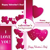 Valentines day. Abstract paper hearts. Love. Valentine background with hearts.  royalty free illustration