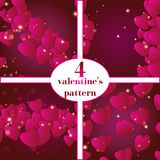 Valentines day. Abstract paper hearts. Love. Valentine background with hearts Royalty Free Stock Photo