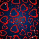 Valentines day. Abstract paper hearts. Love. Valentine background with hearts Royalty Free Stock Images