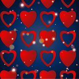 Valentines day. Abstract paper hearts. Love. Valentine background with hearts.  Stock Images